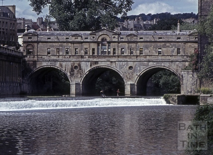 Pulteney Bridge and the old weir. 1965