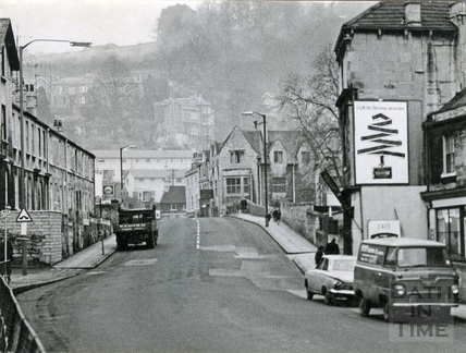 Pulteney Road, looking towards Claverton Street, c.1960s