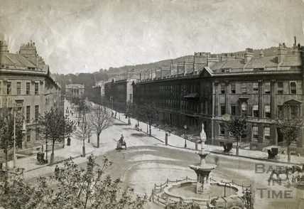 Laura Place and Great Pulteney Street c.1890