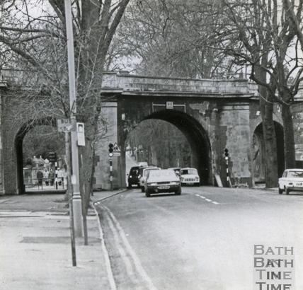 The old railway bridge, Pulteney Road 21 Jan 1974