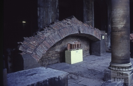 Roman roof arch at the Great Bath 1965