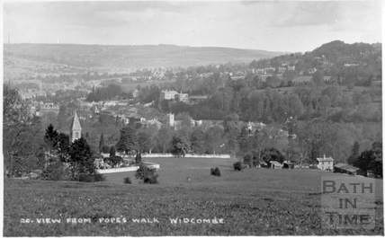 View from Pope's Walk, Widcombe, Bath, c.1910