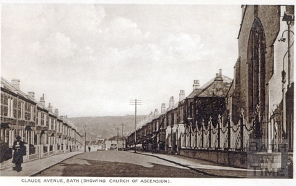 Claude Avenue, showing the Church of Ascension c.1930