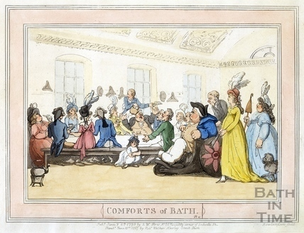 Comforts of Bath, Plate 11 from 1798