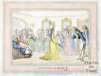 Comforts of Bath, Plate 8 from 1798