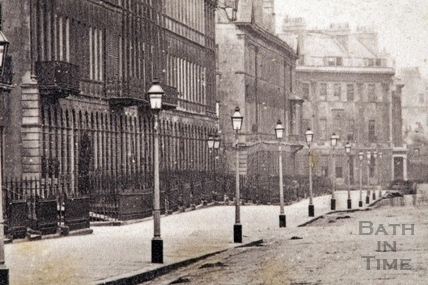 Great Pulteney Street. View from the Holburne Museum looking towards Laura Place 1874 - detail