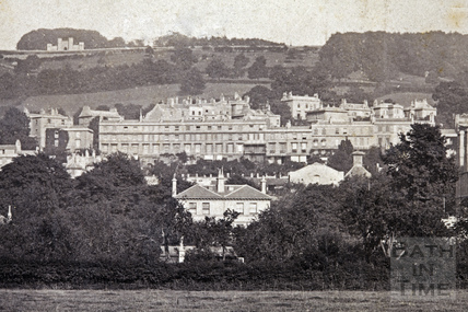 View from Bathwick up to Sham Castle c.1874