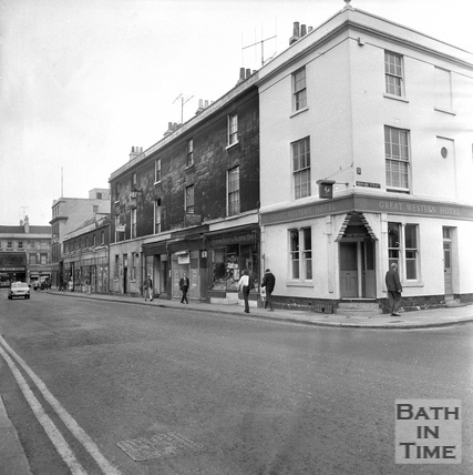 The Great Western Hotel, on the corner of Newark and Dorchester Street, 20 July 1971