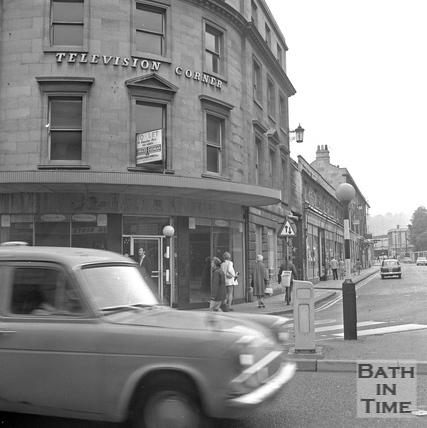 Television Corner, Dorchester Street, 20 July 1971