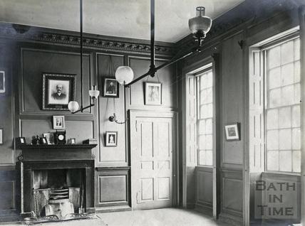 Inside Beau Nash's house, Sawclose c.1900