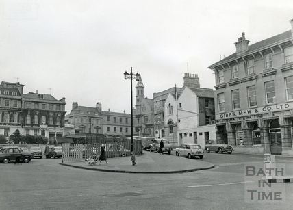 Sawclose, looking towards the Theatre Royal and Garrick's Head c.1960s