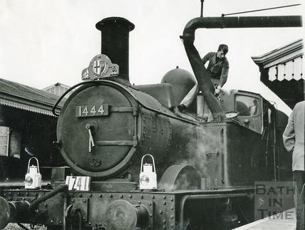 Engine No 1444 at Bath Spa Station 20 September 1964