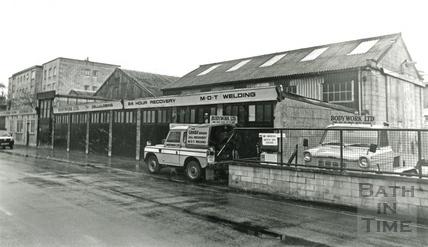 St Johns Road, Bodywork shop 12 Feb 1987