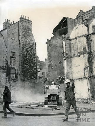The buildings on the corner of Barton Street and Trim Street being demolished, c.1965