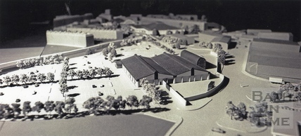 An architectural model of the proposed Homebase store, Western Riverside 26 Jan 1995