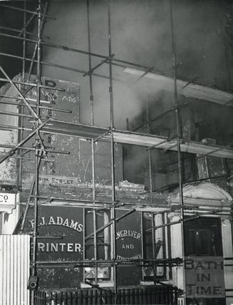 No 1 Trim Street, being demolished, c.1965