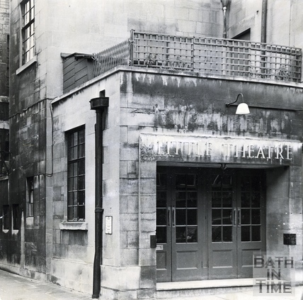 The entrance to the Little Theatre, c.1970s
