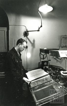 Stuart Burroughs at the Industrial Heritage Museum, 15 Feb 1992
