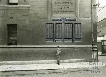 The side of the Mineral Water Hospital, Union Street, 1923