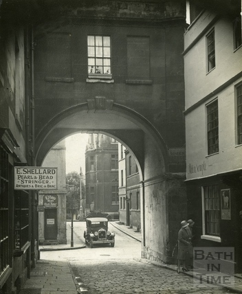 Trim Bridge, St Johns Gateway viewed from Queen Street c.1930s