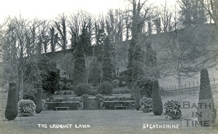 St Catherine's Court, the croquet lawn c.1905