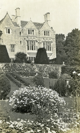 St Catherine's Court, west front and garden c.1912