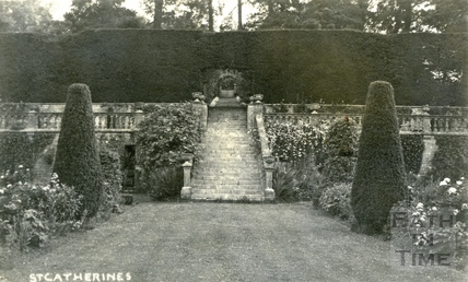 St Catherine's Court, looking beyond the terrace to the south west 1912