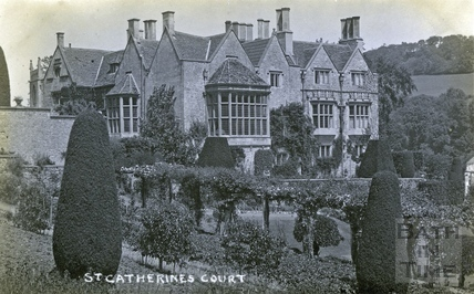 St Catherine's Court and garden, view from the south c.1920
