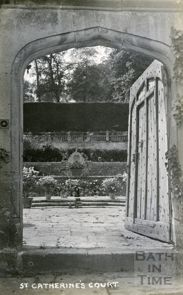 St Catherine's Court, looking through the garden entrance c.1920