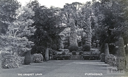 St Catherine's Court, the croquet lawn c.1908