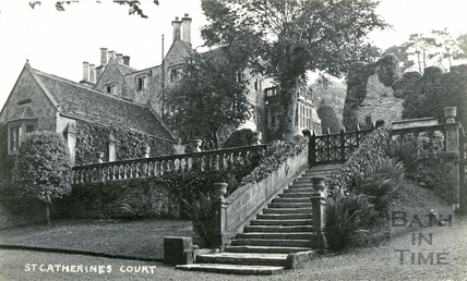St Catherine's Court, steps from east to main entrance c.1912