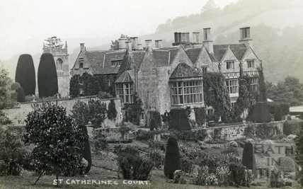 St Catherine's Court and garden, view from the south c.1930
