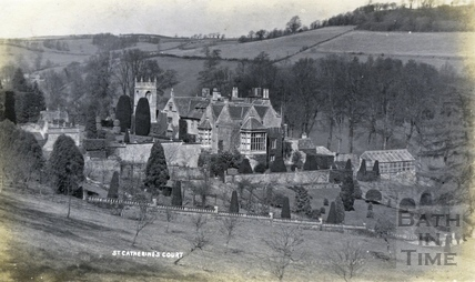 St Catherine's Court and garden, view from the south c.1912