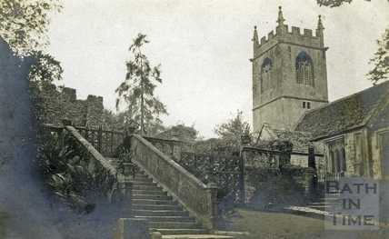 St Catherine's, the church and steps to garden entrance c.1905