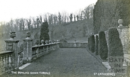 St Catherine's Court, the bowling green terrace c.1905
