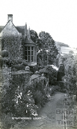 St Catherine's Court and garden from the south west c.1905