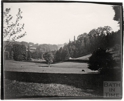 View towards Prior Park from the Dell, Widcombe c.1900