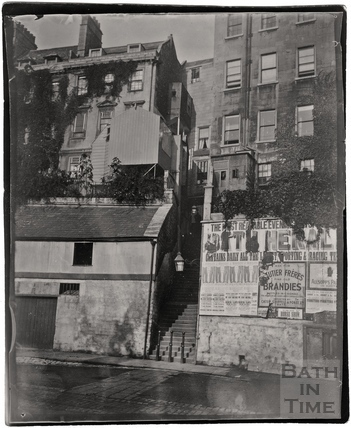 The long steps to Paragon from Walcot Street c.1900