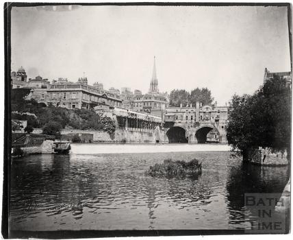 Pulteney Bridge and weir, c.1900