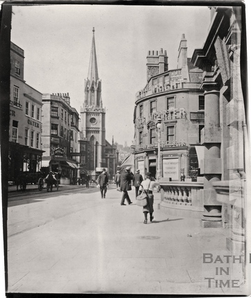 High Street and Northgate Street, looking towards St Michaels Church c.1900