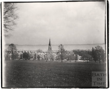 High Common, looking towards the back of Marlborough Buildings c.1900
