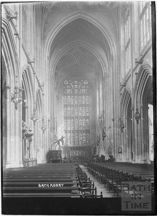Bath Abbey Interior c.1937