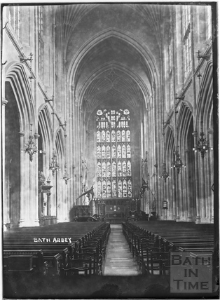 Bath Abbey Interior c.1937