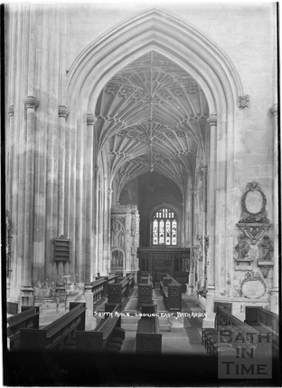 South Aisle, looking east, Abbey Interior c.1937