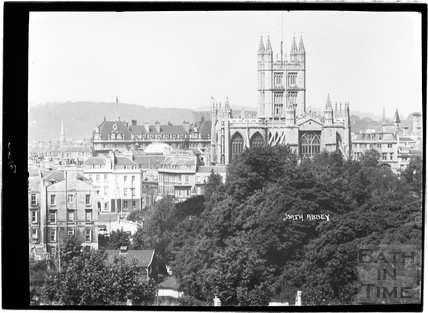 View across to Abbey and Grand Pump Room Hotel 1937