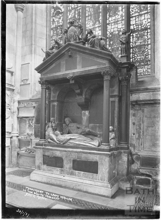 Monument to Lady Waller in the South Transept, Abbey Interior 20 Jan 1937