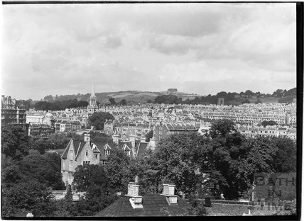 View across rooftops towards Bathwick