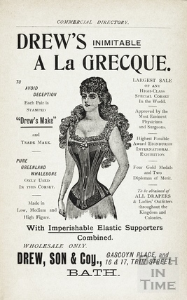 Drews Inimitable a la Grecque corsetry, Gascoyne Place 1900