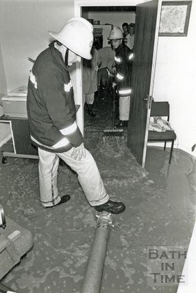 Floods in Weston August 1988