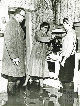 A flooded kitchen c.1960